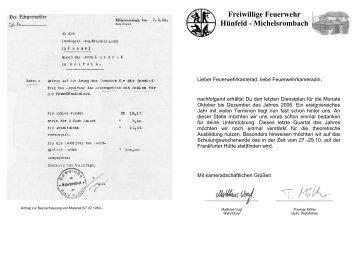 Dienstplan 4. Quartal 2006 - Feuerwehr Michelsrombach