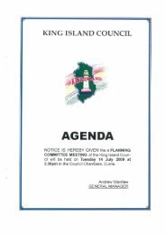 Agenda 14 July 2009 Planning Committee - King Island Council