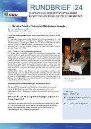 RUNDBRIEF  24 - CDU Steinfurt