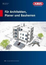Für Architekten, Planer und Bauherren - Abus