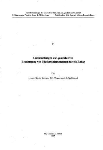 Untersuchungen zur quantitativen Bestimmung von ... - MeteoSwiss