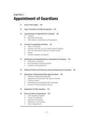 Chapter 7: Appointment of Guardians