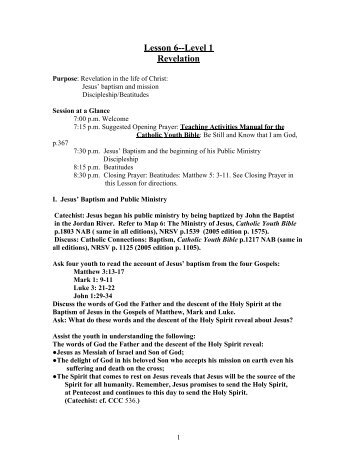 Lesson 6--Level 1 Revelation