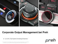Corporate Output Management bei Preh - SEAL Systems AG