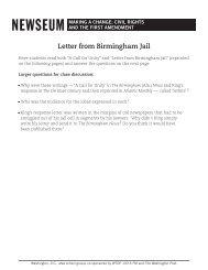 Letter from Birmingham Jail - Newseum
