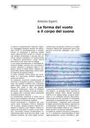 La forma del vuoto e il corpo del suono - Amaltea