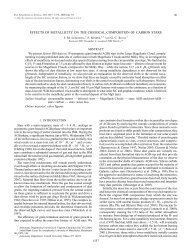 effects of metallicity on the chemical composition of carbon stars
