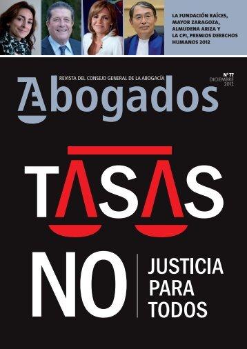 (y más) opiniones contra las tasas - Abogacía Española