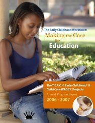 TEACH Early Childhood® and Child Care WAGE