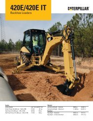 Specalog for 420E/420E IT Backhoe loader, AEHQ6011