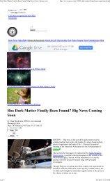 Has Dark Matter Finally Been Found? Big News Soon | Space.com