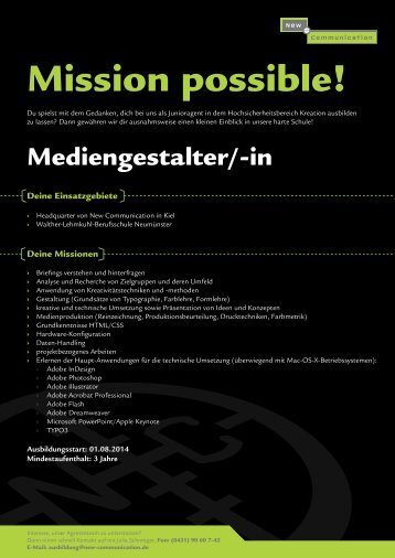 Mediengestalter/in Konzeption und Visualisierung - New ...