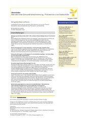 Newsletter Betriebliche Gesundheitsförderung, Prävention und ...