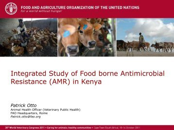 Integrated Study of Food borne Antimicrobial Resistance (AMR