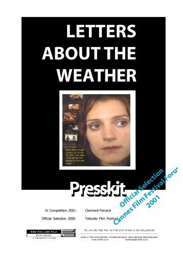 Letters About the Weather Press Kit - New Zealand Film Commission