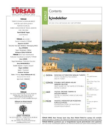 dergi - Türkiye Seyahat Acentaları Birliği