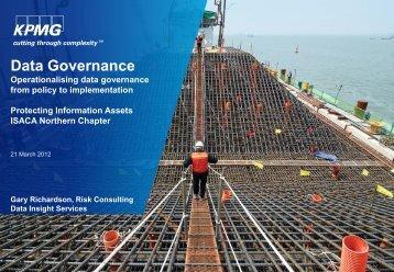 Gary Richardson, Data Governance - Isaca