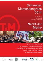 Zum Programm 2013 - Schweizer Markenkongress