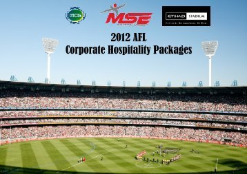 2012 AFL Corporate Hospitality Brochure - MSE Events