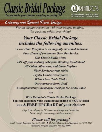 Classic Bridal Package new - Orlando's