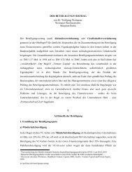Der Beteiligungsvertrag - WEITNAUER Rechtsanwälte