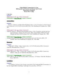 1 Citing Biblical Commentaries in Your Bibliography and Footnotes ...