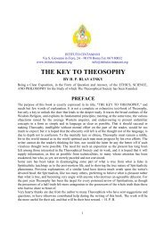 THE KEY TO THEOSOPHY - Istituto Cintamani