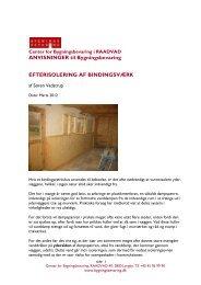 Efterisolering af bindingsværk - Center for Bygningsbevaring
