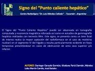 """Signo del """"Punto caliente hepático"""" g p g p - Congreso SORDIC"""
