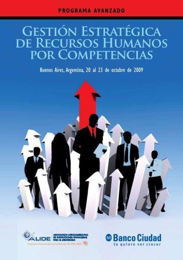 Gestión Estratégica de Recursos Humanos por Competencias - Alide