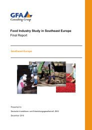 Food Industry Study in Southeast Europe - AHK Mazedonien - AHKs