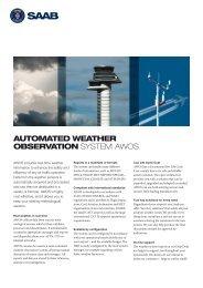 AWOS product sheet (pdf) - Saab