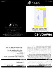 WM C5-VGA - Niles Audio