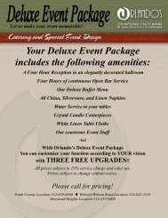 Deluxe Event Package -  Orlando's