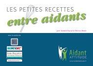 Les petites recettes ENTRE AIDANTS - Aidautonomie.fr