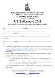 modulo iscrizione 2012 DICEMBRE - Il Portale Regionale della ...