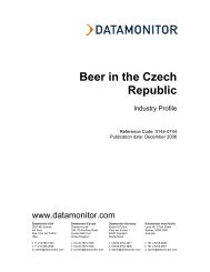 Beer in the Czech Republic