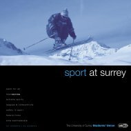 sport at surrey - University of Surrey's Student Union