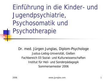 Einführung in die Kinder- und Jugendpsychiatrie und ...