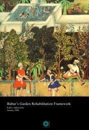 Babur's Garden Rehabilitation Framework - Aga Khan Development ...