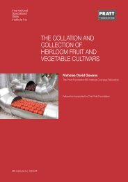 the collation and collection of heirloom fruit and vegetable cultivars