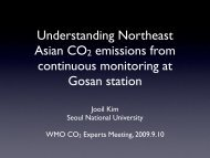 Understanding Northeast Asian CO2 emissions from continuous ...