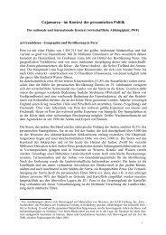 der nationale und internationale Kontext - von Cajamarca