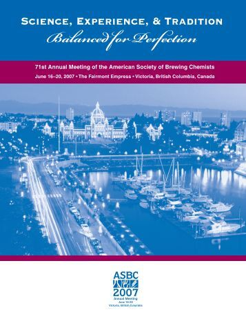 Science, Experience, & Tradition - (ASBC) Annual - American ...