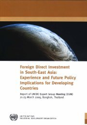 Foreign direct investment in Southeast Asia: - Regional Office China