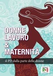 DONNE LAVORO & MATERNITÀ - Deputati PD