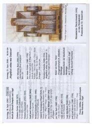 Programm Orgelsommer - St. Sebastian Nienberge