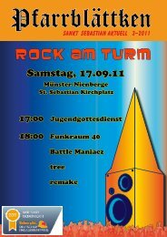 Rock am Turm - St. Sebastian Nienberge