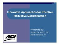 Innovative Approaches for Effective Reductive Dechlorination - ESWP