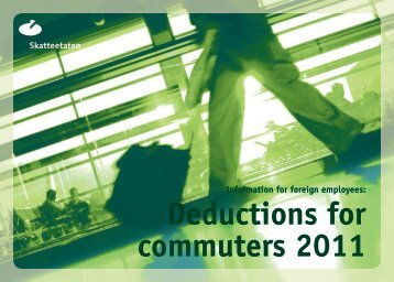 Deductions for commuters 2011 - Skatteetaten